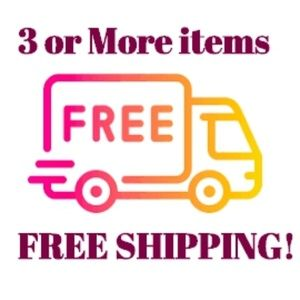 FREE SHIPPING on Bundles of 3 or More!